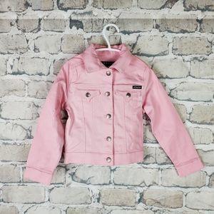 Tractor Pink Trucker Jacket Size 5 Flap Pockets